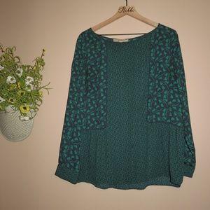 LOFT green flowy blouse sz. L ✨